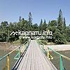 Пешеходный мост в урочище Ангелов