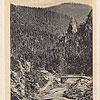 Скалы над р. Прут в Татарове (открытка, источник - artkolo.org)