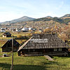 Панорама села, на переднем плане - музей фильма «Тени забытых предков»