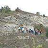 Геологический памятник - отслоения песчаников со скоплением ископаемой фауны около с. Тростянец