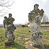 Figures near the church, Krysovychi
