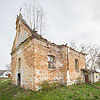 The ruins of the Church of the Exaltation of the Holy Cross, Obroshyne village