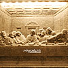 """Leonardo's """"The Last Supper"""" carved in a wall of rock salt in Wieliczka town"""