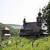 St. Basil church (17th cen., 1748) with a bell tower, Likitsary village