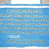 Географічний центр Європи, пам'ятний напис латиною