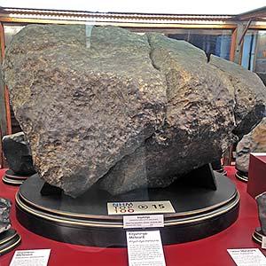 Fragment of Knyhynya meteorite in Natural History Museum Vienna