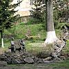 Пам'ятник А. Ерделі та Й. Бокшаю у сквері біля пл. Жупанської у м. Ужгород