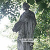 The sculptures nearby the church, Velyki Komyaty village